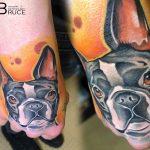kézfej kutya tetoválás, hand dog tattoo