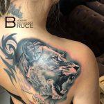 oroszlán tetoválás, lion tattoo