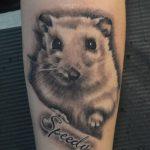 hörcsög tetoválás, hamster tattoo