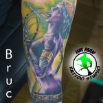 bruce 25 kar alkar arm colour forearm szines color ink man tattoo studio budapest tetovalas bruce - Tetoválás, Ink man tattoo studio, Tetoválás Budapest, piercing