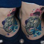 bruce 353 elefant szines color elephant body ink man tattoo studio budapest tetovalas bruce - Tetoválás, Ink man tattoo studio, Tetoválás Budapest, piercing