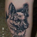 németjuhász tetoválás, german shepherd dog tattoo