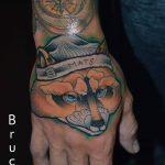 róka tetoválás, fox tattoo