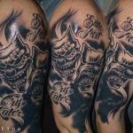 bruce 46 kar alkar arm colour shoulder black white fekete ink man tattoo studio budapest tetovalas bruce - Tetoválás, Ink man tattoo studio, Tetoválás Budapest, piercing