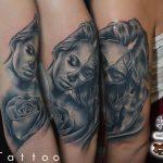 rózsa nő tetoválás, rosa women tattoo