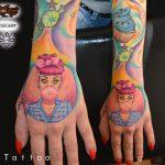 rágógumi tetoválás, gum tattoo