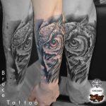 bruce 55 bagoly blackwork fekete ink man tattoo studio budapest tetovalas bruce - Tetoválás, Ink man tattoo studio, Tetoválás Budapest, piercing