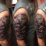 szörny tetoválás, monster tattoo