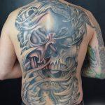 telihát koponya tetoválás, when full skull tattoo