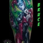 bruce 7 bohoc clown szines colour lab leg ink man tattoo studio budapest tetovalas bruce - Tetoválás, Ink man tattoo studio, Tetoválás Budapest, piercing