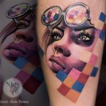 arc tetoválás, face tattoo