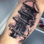 pagoda tetoválás, pagoda tattoo