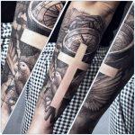kereszt tetoválás, cross tattoo