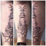 világítótorony tetoválás, lighthouse tattoo
