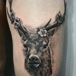 szarvas tetoválás, deer tattoo