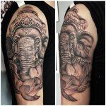 elefánt liliom tetoválás, elephant lily tattoo