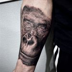 gorilla tetoválás, gorilla tattoo