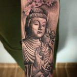 budha virág tetoválás, budha flower tattoo