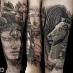 ló tetoválás, horse tattoo