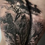 zebra tetoválás, zebra tattoo