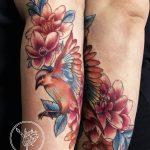 dalma 49 lab foot virag flower szines colour ink man tattoo studio budapest tetovalas dalma - Tetoválás, Ink man tattoo studio, Tetoválás Budapest, piercing