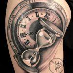 homokóra tetoválás, sand glass tattoo