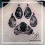 tappancs kutya tetoválás, paw dog tattoo