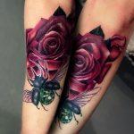 rózsa bogár tetoválás, rose beetle tattoo