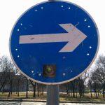 közlekedési tábla Ink Man, traffic sign Ink Man