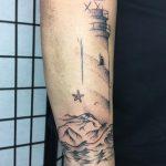 víztorony tetoválás, water tower tattoo