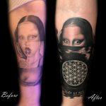 131 black fekete kar back arm color ink man tattoo studio budapest tetovalas bruce - Tetoválás, Ink man tattoo studio, Tetoválás Budapest, piercing