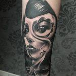 alkar női motívum tetoválás, forearm female motif tattoo