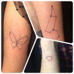 pillangó szív csillagjegy tetoválás, butterfly heart zodiac tattoo