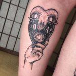 kos szív láb tetoválás, aries heart tattoo