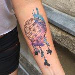 álomfogó kar tetoválás, dream Catcher arm tattoo