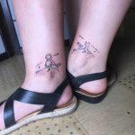 kisherceg boka tetoválás, little prince's ankle tattoo