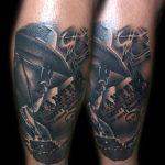 cowboy kar fekete tetoválás, cowboy black tattoo