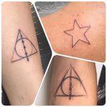 csillag háromszög kar tetoválás, star triangle arm tattoo