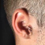 fül tetoválás csíkok. ear tattoo lines