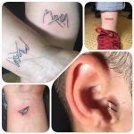 Júlia vegyes kicsi tetoválások, Julia mixed little tattoo