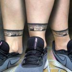 boka tetoválás hegyek, ankle tattoo mountains