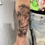 alkar női harcos tetoválás, forearm female warrior tattoo