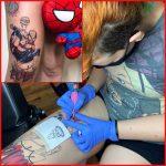Júlia tetováló művész saját minta, Julia tattoo artist has her own pattern