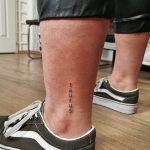 bika felirat boka tetoválás, bull inscription ankle tattoo