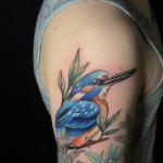 kék madárka tetoválás, blue bird tattoo