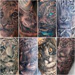 nagymacskák tetoválás, big cats tattoo
