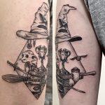 Harry Potter teszlek süveg tetoválás, Harry Potter I'll put on a hat tattoo