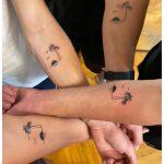 közös tetoválás pálmafa nyaralás, common tattoo palm tree holiday