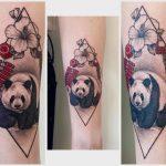 kínai panda tetoválás, chinese panda tattoo