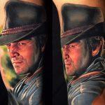 kalapos film sztár tetoválás, hat movie star tattoo
